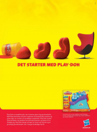 Hasbro Play-Doh: It starts with... Print Ad by In-Mind