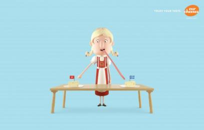 Les Producteurs de lait du Quebec: Swiss Print Ad by Lg2 Quebec