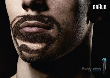Braun cruZer: Super Beards Superman Print Ad by BBDO Dusseldorf
