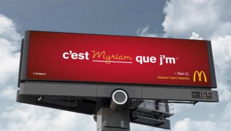 McDonald's: I'm lovin' ____, 4 Outdoor Advert by Cossette Toronto