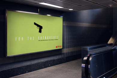 Netflix: For the Extroverts: Shortest show in the history of Netflix, 3 Outdoor Advert by Side Project, USA