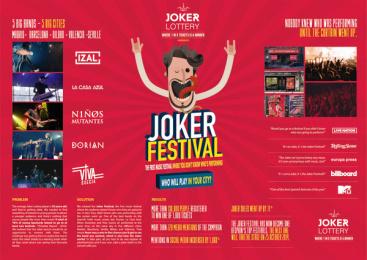 Loterias Y Apuestas Del Estado: JOKER FESTIVAL Print Ad by Proximity Madrid