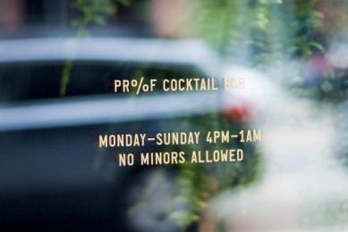 Proof Cocktails & Curiosities: Pr%F Identity, 3 Design & Branding by Wax