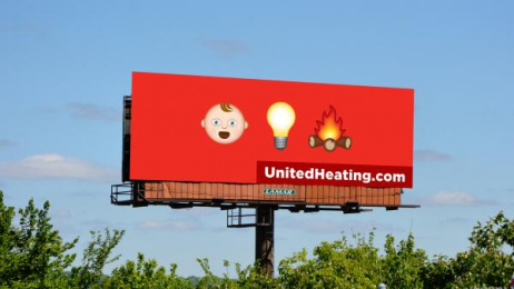 United Heating & Cooling: Baby Light My Fire Outdoor Advert by Trozzolo Kansas City