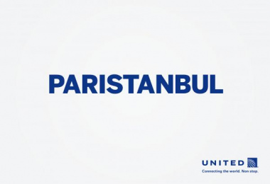 United  Airlines: Paristanbul Print Ad by Miami Ad School