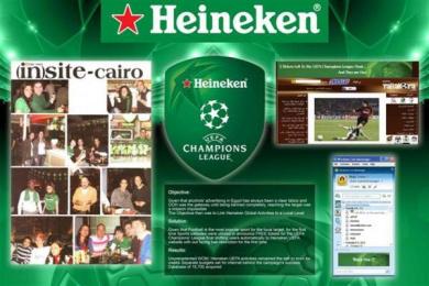 Heineken Beer: UEFA CHAMPIONS' LEAGUE Print Ad by Zenithmedia