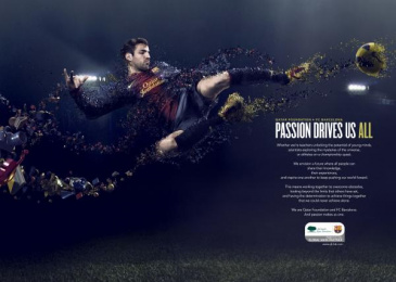 Qatar Foundation Radio: Passion Drives Us All Print Ad by TBWAQatar, Doha, Wolf & Crow