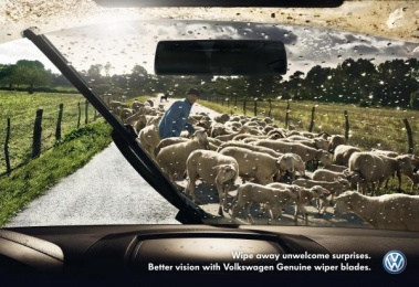 Volkswagen Services: SHEEP Print Ad by DDB Berlin