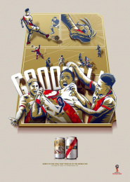 Cristal: From Barrio to Russia, 2 Print Ad by Y&R Lima