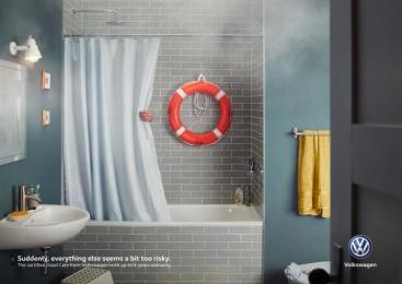 Volkswagen: Bathroom Print Ad by DDB Berlin