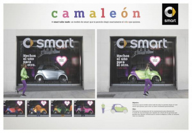 Smart: Camaleón [spanish image] Ambient Advert by Contrapunto BBDO Madrid, Cubensis