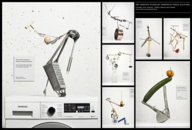 Siemens washing machines with anti-vibration Design: THE LAUNDRY-GALLERY, 2 Design & Branding by Scholz & Friends Berlin