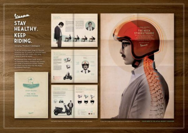 Vespa Scooter: THE NECK STRENGTHENER Design & Branding by Y&R Kuala Lumpur