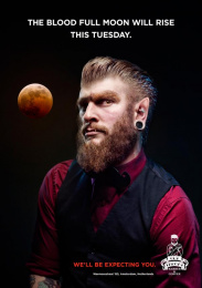 Cut-Throat Barbers: Full Moon Print Ad by Iris Amsterdam