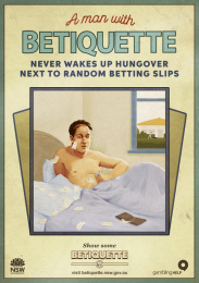 betiquette.nsw.gov.au: Random betting slips Outdoor Advert by GPY&R Sydney, Sixty40