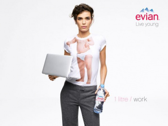 Evian Water: Live Young, 3 Print Ad by BETC Euro Rscg Paris