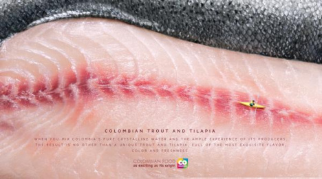 Marca País: Colombian Trout and Tilapia Print Ad by Sancho BBDO Bogota