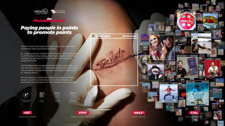 Velocity Frequent Flyer: The Earnbassadors, 1 Print Ad by CHE Proximity Australia