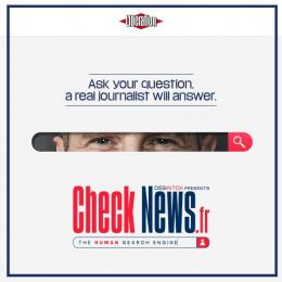 CheckNews.fr: Visual Digital Advert by J. Walter Thompson Paris