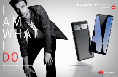 Huawei Mate10 Pro: I am What I Do, 4 Print Ad by Doner