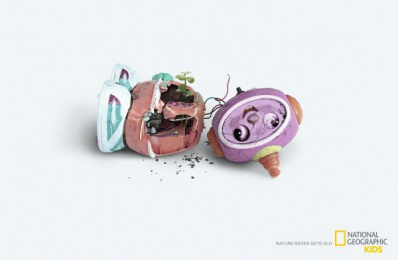 National Geographic Kids: Nature Never Gets Old - Sprout Print Ad by Foxp2 Cape Town