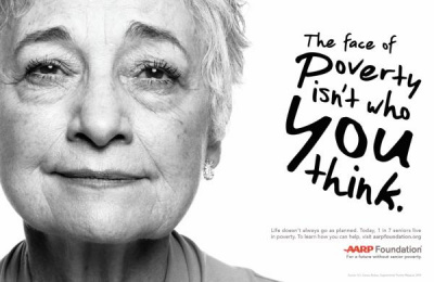 American Association of Retired Persons (AARP): The Face of Poverty Isn't who you Think, 2 Print Ad by Grey New York