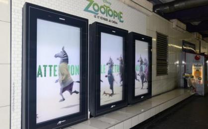 Walt Disney: Disney Zootopie  Outdoor Advert by Havas Media France