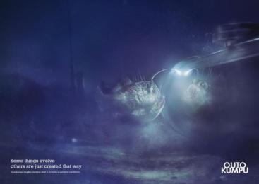 Outokumpu Stainless Steel: Angler fish Print Ad by Euro Rscg Helsinki