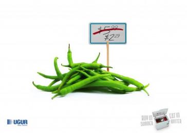 Uğur: Pepper Print Ad by Fikr Fikr Turkey, KAF Ankara