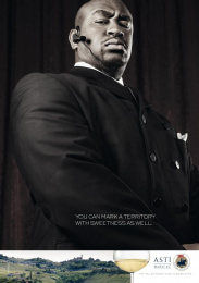 Consortium For The Protection And Promotion Of Italian Sweet Sparkling Wine Asti: BOUNCER Print Ad by Red Cell