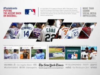 Major League Baseball/ MLB: Ponle Acento [image] 2 Digital Advert by Latinworks, Nunchaku Cine, Union Editorial