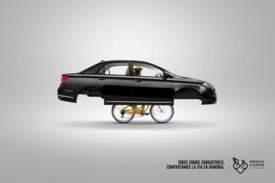Fundacion Monica Licona: Bike, 3 Print Ad by Cerebro Y&R Panama