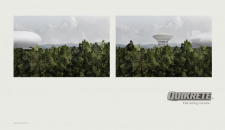 Quikrete: Water Tank Print Ad by Fitzgerald+co.