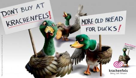Krachenfels: Demonstrating Ducks Print Ad by .mattomedia®, Villingen-Schwenningen