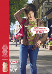 Yakult: Girl Print Ad by Euro Rscg London