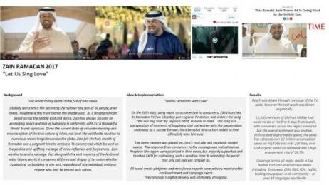 Zain: We Will Sing Love [image] Print Ad by Beirutworks, Joy Productions, Mindshare Dubai