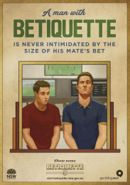 betiquette.nsw.gov.au: Mates bet Outdoor Advert by GPY&R Sydney, Sixty40