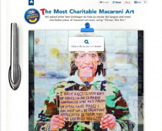 KRAFT Macaroni and Cheese Application: Dinner Not Art Mural Digital Advert by Crispin Porter + Bogusky Boulder