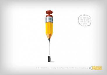 Pencils of Promise: Pencil, 2 Print Ad by Labstore, Madrid