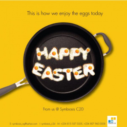 Symbiosis C2D: Justice to Easter eggs Print Ad by Symbiosis C2D