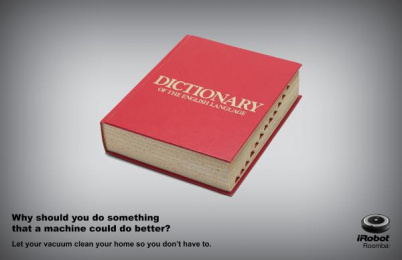 iRobot: Dictionary Print Ad by S.I. Newhouse School of Public Communications Syracuse New York