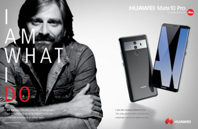Huawei Mate10 Pro: I am What I Do, 9 Print Ad by Doner