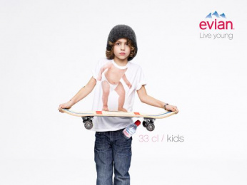 Evian Water: Skater Print Ad by BETC Euro Rscg Paris