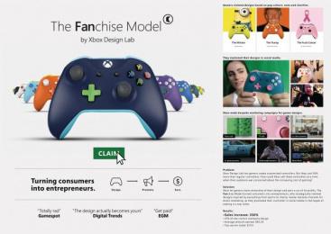 Xbox Design Lab: The Fanchise Model [image] Print Ad by McCann London
