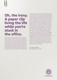 Volkswagen: Paper clip Print Ad by DDB Berlin