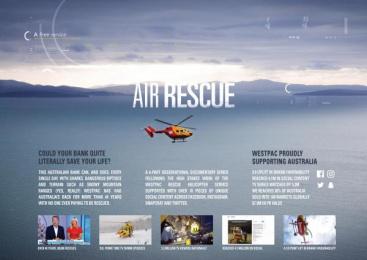 Westpac: Westpac Air Rescue [image] Digital Advert by Mediacom Sydney