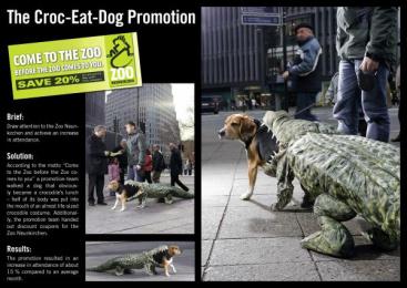 Neunkirchen Zoo: CROC-EATS-DOG Print Ad by Scholz & Friends Berlin