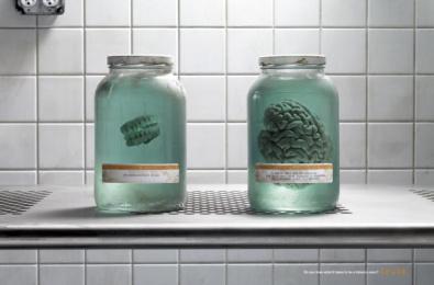 American Legacy Foundation - Truth: Teeth & Brain Print Ad by Arnold Worldwide Boston, Arnold Worldwide New York