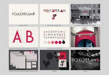 The Folkoperan Opera House: Folkoperan - new graphic identity, 3 Design & Branding by Lowe Brindfors Stockholm