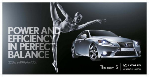 Lexus Is: Power and Efficiency Print Ad by ZenithOptimedia London